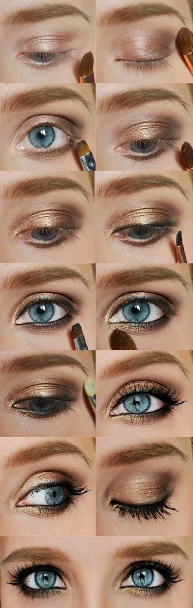 Фото светлый макияжа глаз
