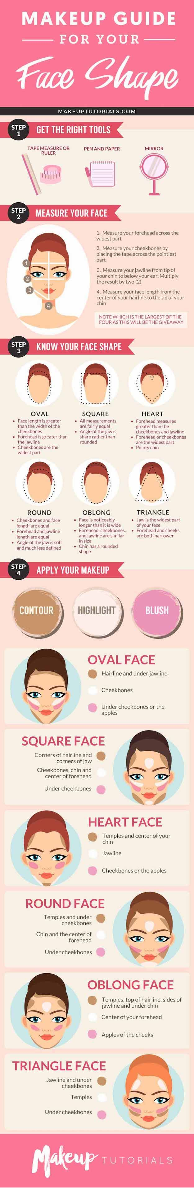 How to Contour Your Face Depending On Your Face Shape | Best Makeup Tutorials An...