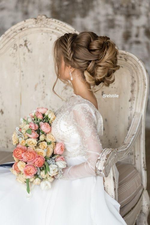 Featured Hairstyle: Elstile; www.elstile.ru; Wedding hairstyle idea....