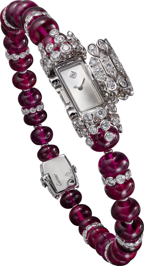 Cartier- High Jewelry watch-White Gold, Rubellites,Diamonds. HPIO1112...