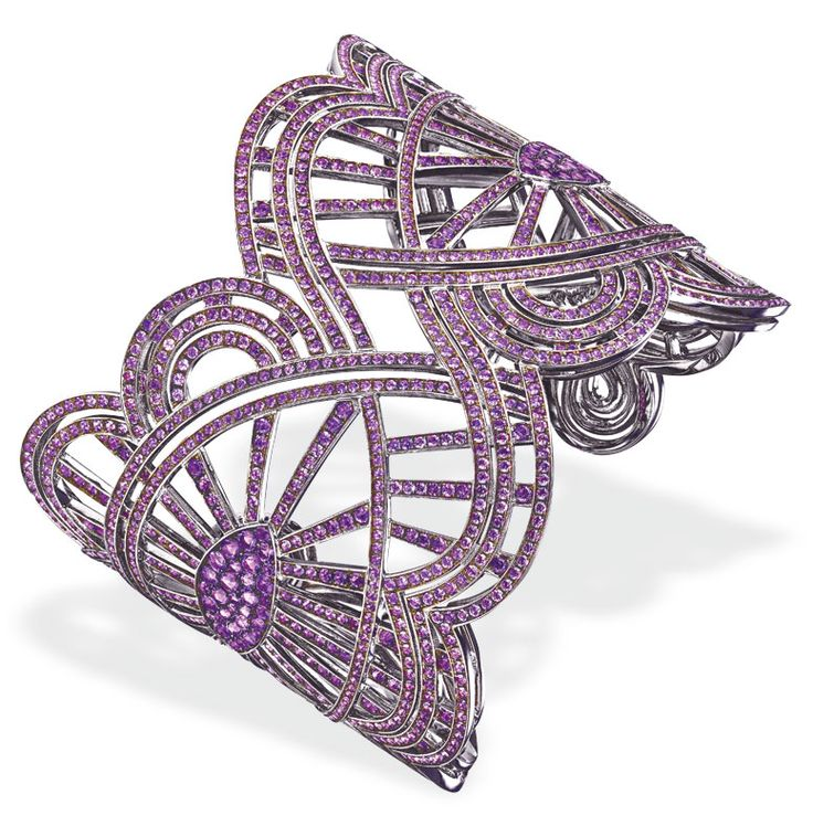 Chopard Red Carpet collection bracelet with amethyst set in 18-karat white gold....