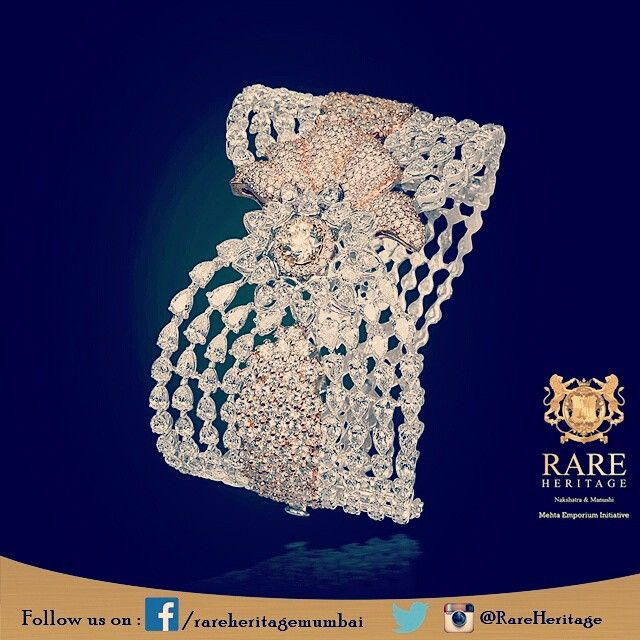 Craved with tiny #jewels, this #kada is truly a symbol of #eliteness #RareHerita...