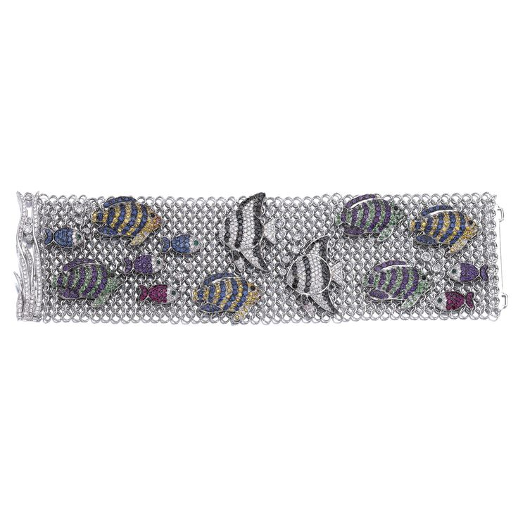 Gem-set and diamond bracelet, 'Fish', Michele della Valle Designed as a ...