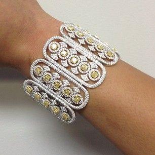 Odelia 18K Multi Gold & Diamond Bracelet...