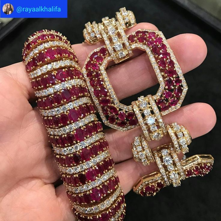 Raya Al-Khalifa. Made My Heart Skip A Beat... Or Two! #Rubies & #Diamonds Set In...