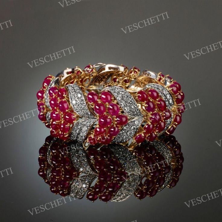 Rubies and diamonds bracelet RED CARPET...