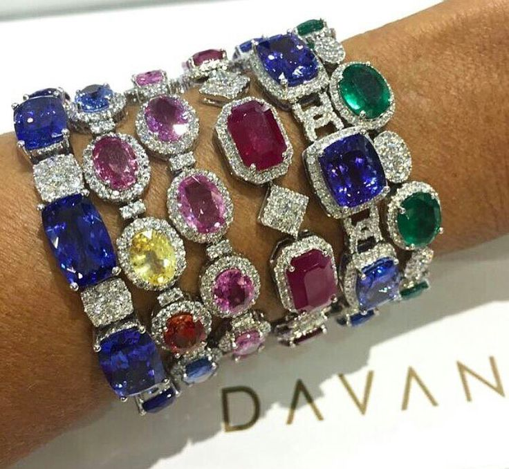 #Stacking up these precious gemstone bracelets to brighten up this #Wednesday!!...
