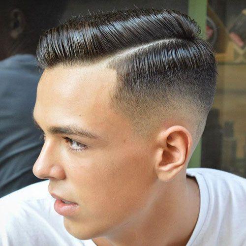 Fashionable Mens Haircuts Hard Side Part High Taper Fade