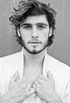 Natural soft wave or curl, men's hairstyles (2015/2016)...