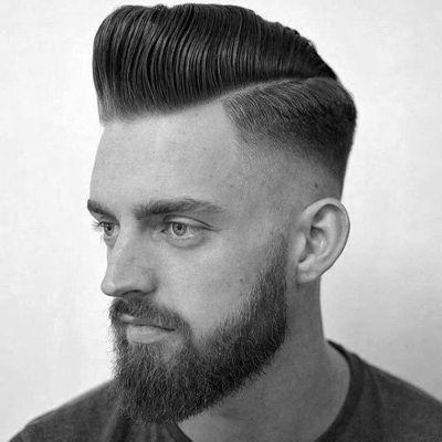 pompadour-fade-haircut-and-beard.jpg (400×400...