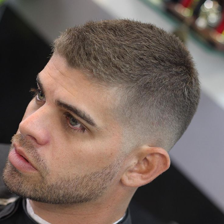 Very Short Textured Haircut With Cool Beard...