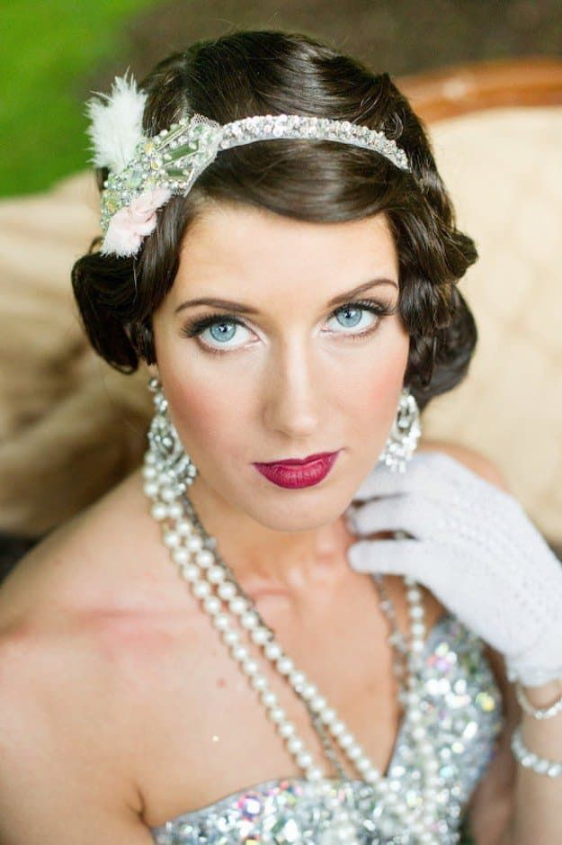 Gatsby Inspired   Wedding Makeup Looks Inspiration For Your Big Day...