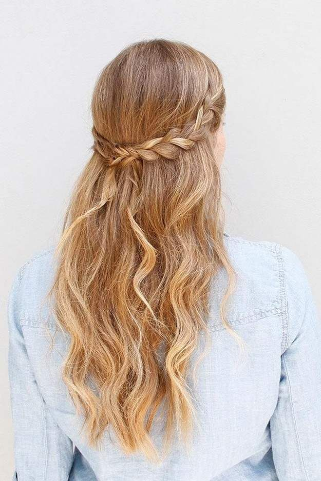Half-Up Braided Hairstyle | Homecoming Dance Hairstyles Inspiration Perfect For ...
