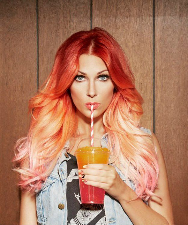 Orange to Pink Ombre | 15 Ombre Hair Color Ideas...