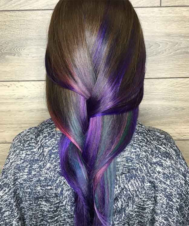Peacock Tail Ombre   15 Ombre Hair Color Ideas...