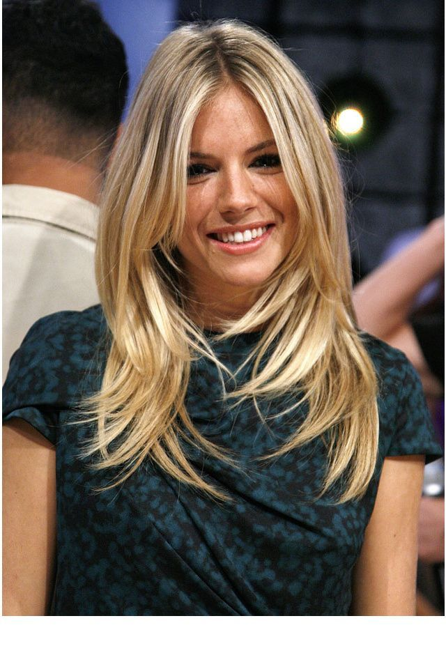 La coiffure top de Sienna Miller Long hair....