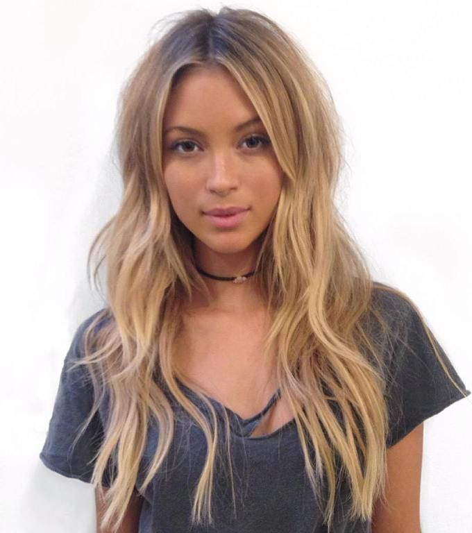Layered Centre-Part Hairstyle For Long Hair...