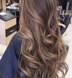 Light brown long hair with waves....