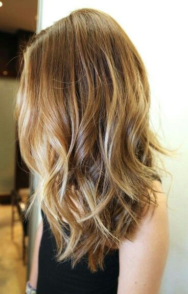 loving this sunkissed color. Shoulder length hair....