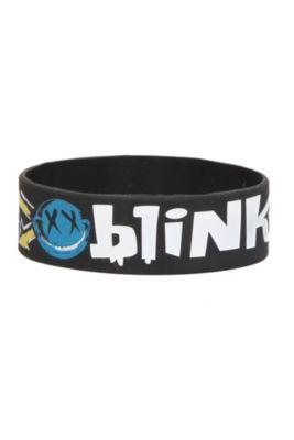 Blink-182 Smiley Rubber Bracelet | Hot Topic
