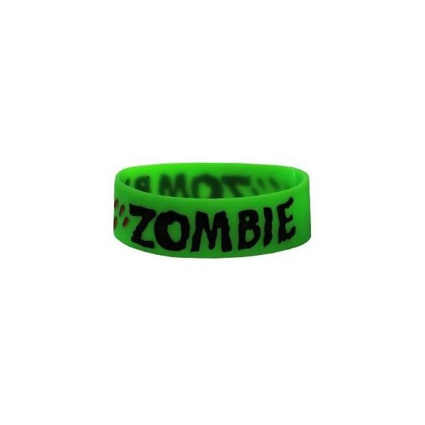 Goodie Two Sleeves Neon Zombie Wristband - Polyvore