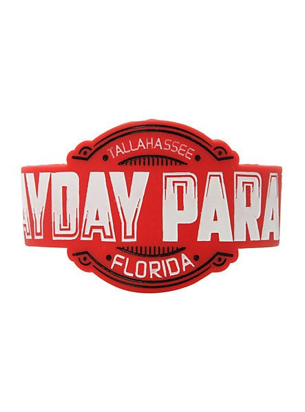 Mayday Parade Logo Die-Cut Rubber Bracelet | Hot Topic