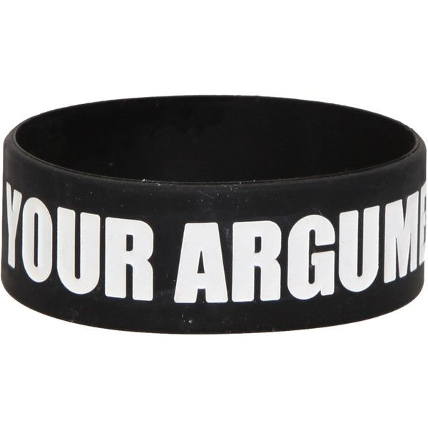 Your Argument Is Invalid Rubber Bracelet | Hot Topic ($25)...