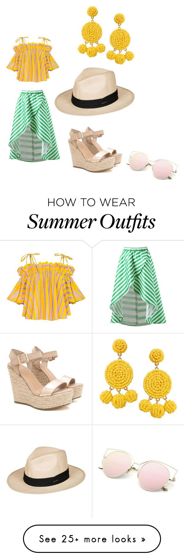 """Beach vacation outfit"" by tessyru on Polyvore featuring Roxy and Humb..."