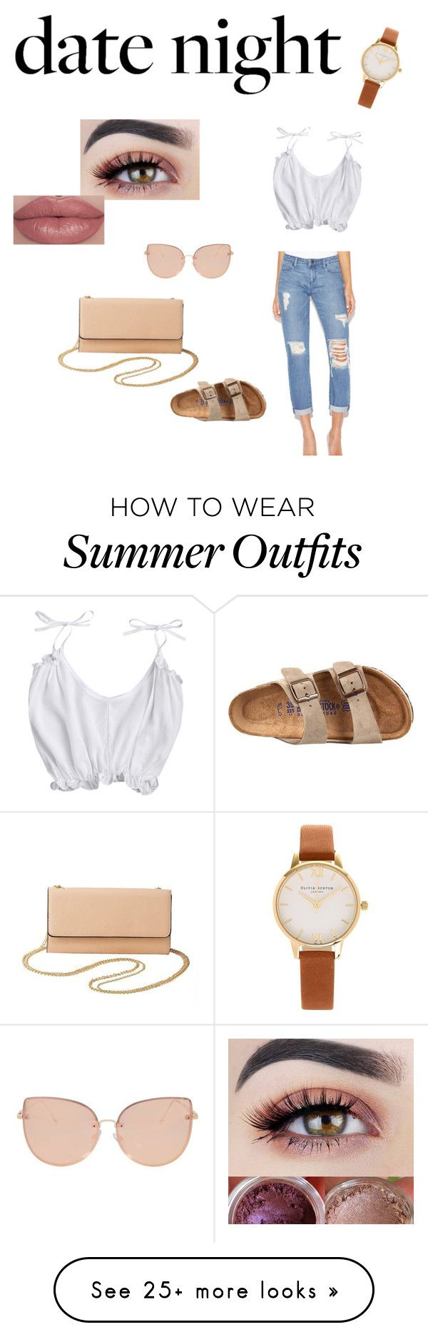 """""""cute outfit"""" by vezz on Polyvore featuring Birkenstock, Charlotte Rus..."""