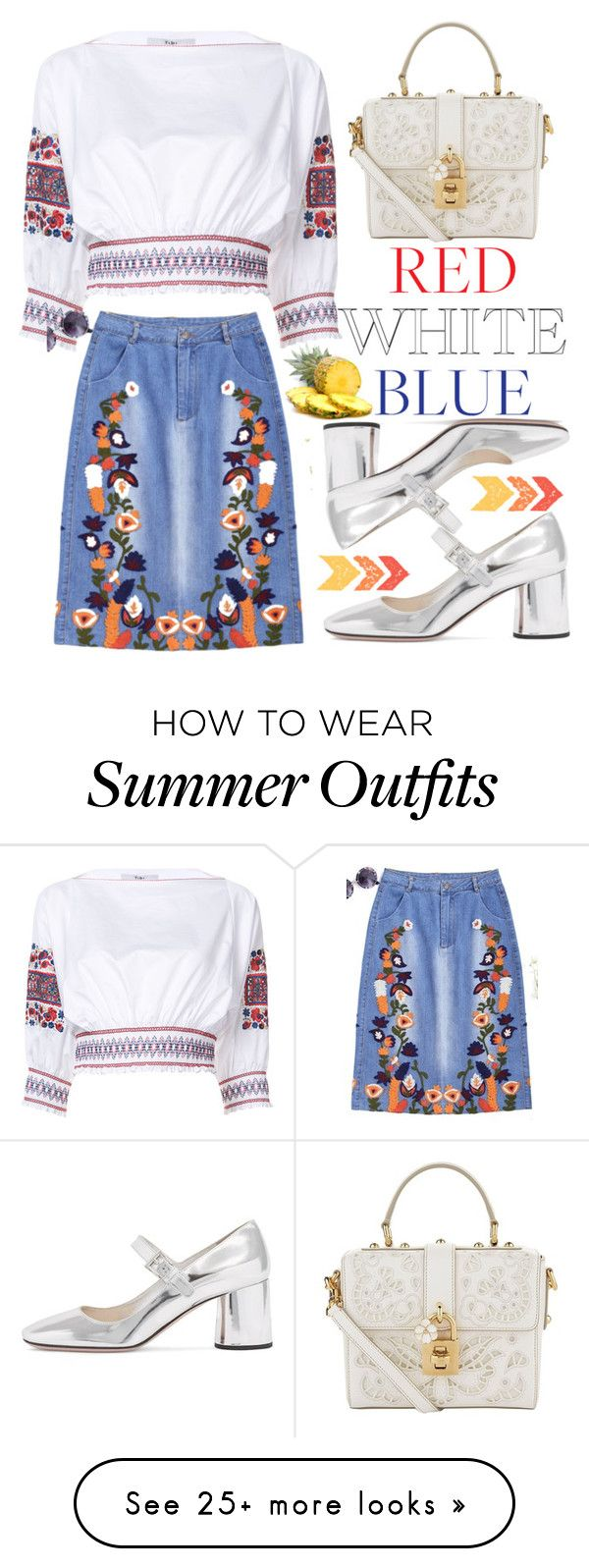 """FSJ summer outfit"" by fsjamazon on Polyvore featuring TIBI and Dolce&..."