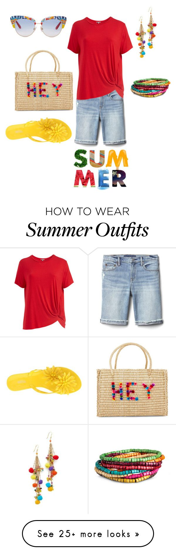 """""""Fun Summer Colors"""" by denise-grimes on Polyvore featuring Nannacay, G..."""