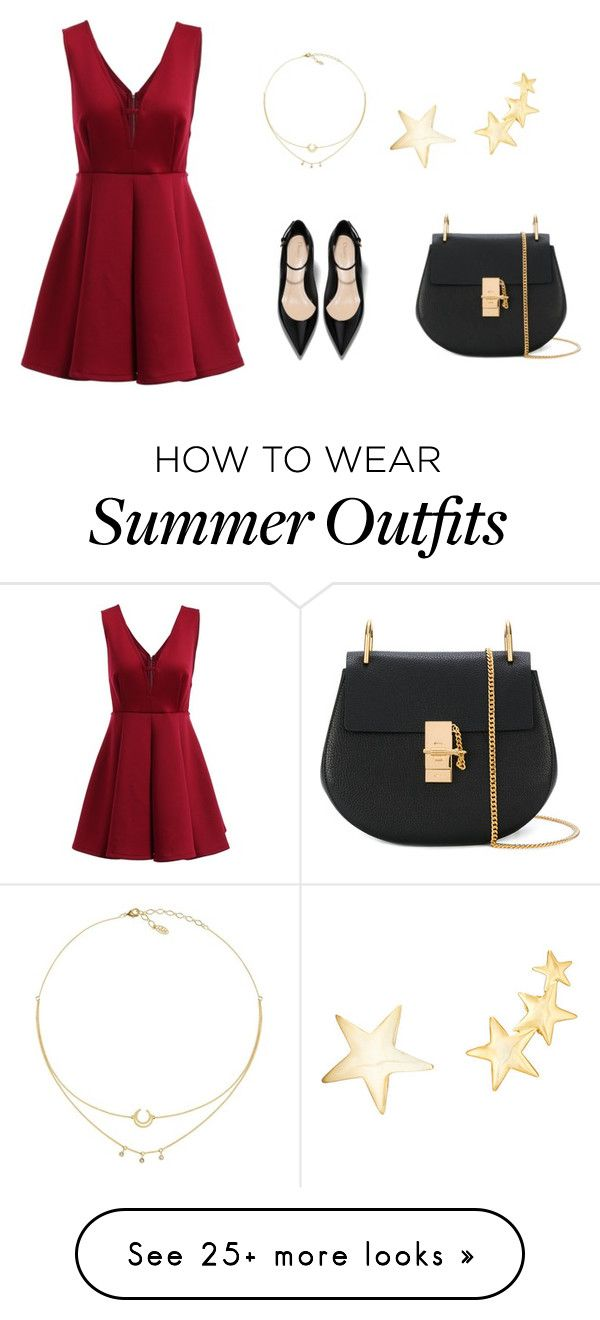 """Outfit"" by sara-stylee on Polyvore featuring Chloé and Kenneth Jay..."