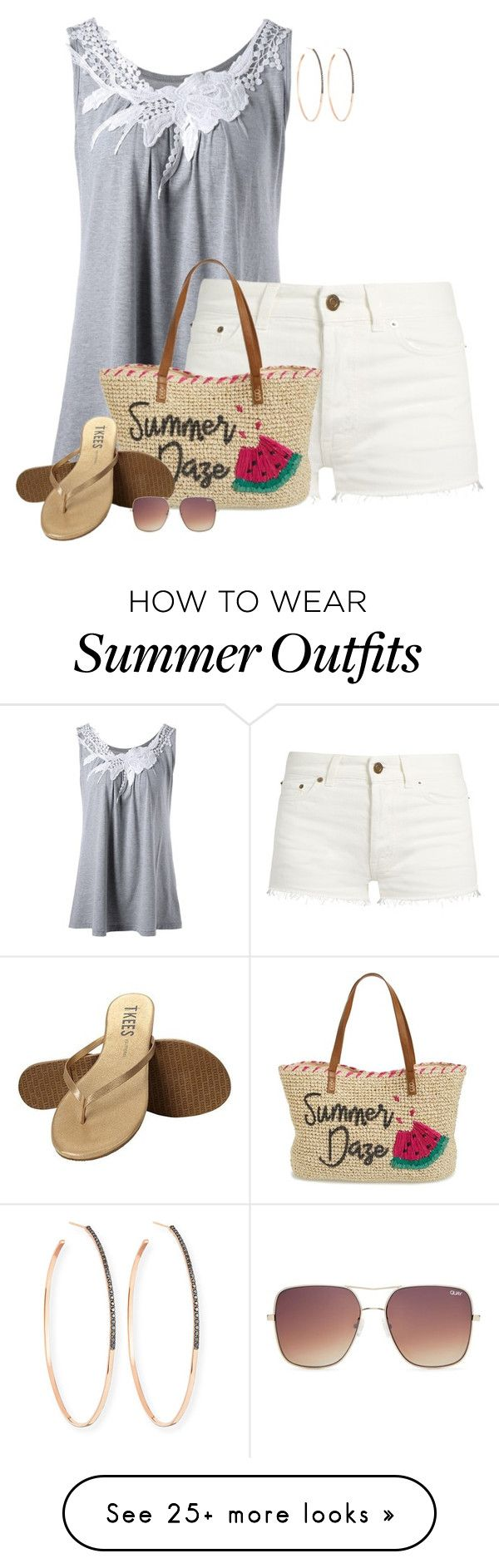 """""""Straw Summer Style"""" by kginger on Polyvore featuring Yves Saint Laure..."""