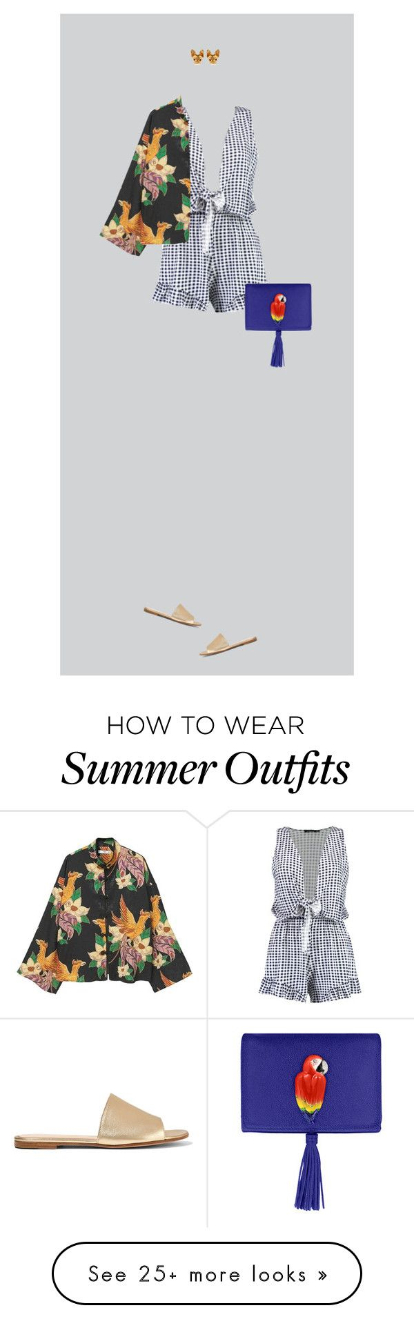 """""""Summer outfit"""" by krisz-kn on Polyvore featuring Boohoo, MANGO, Nach ..."""