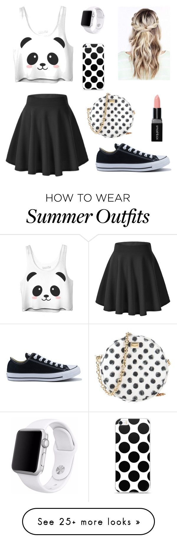 """Summer Outfit (dressy)"" by meganiaco on Polyvore featuring Converse, ..."