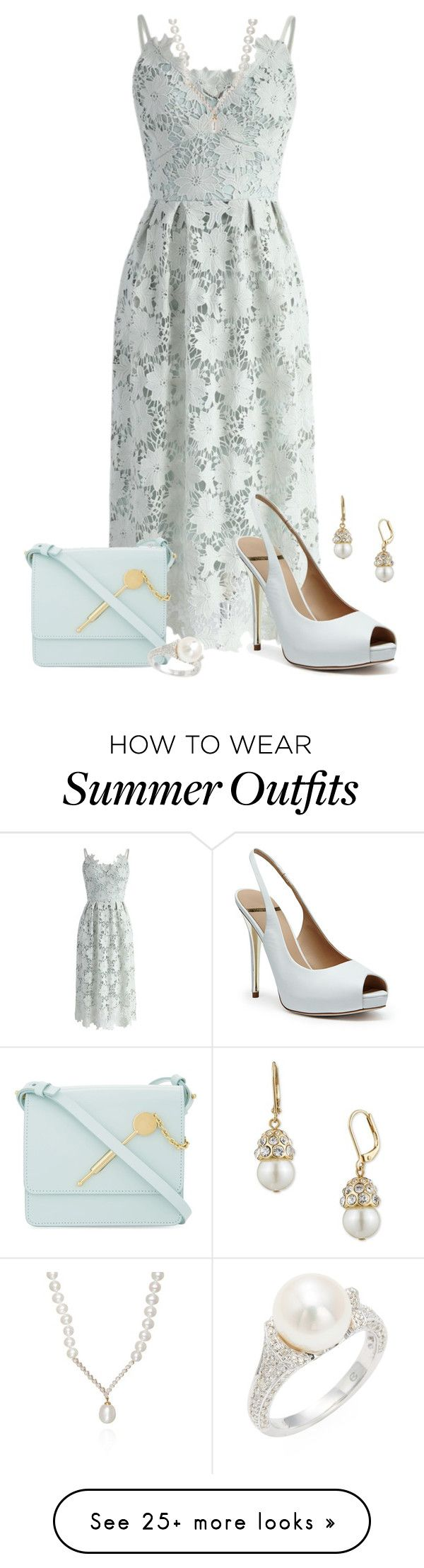 """Summer Weddings"" by freida-adams on Polyvore featuring Chicwish, GUES..."