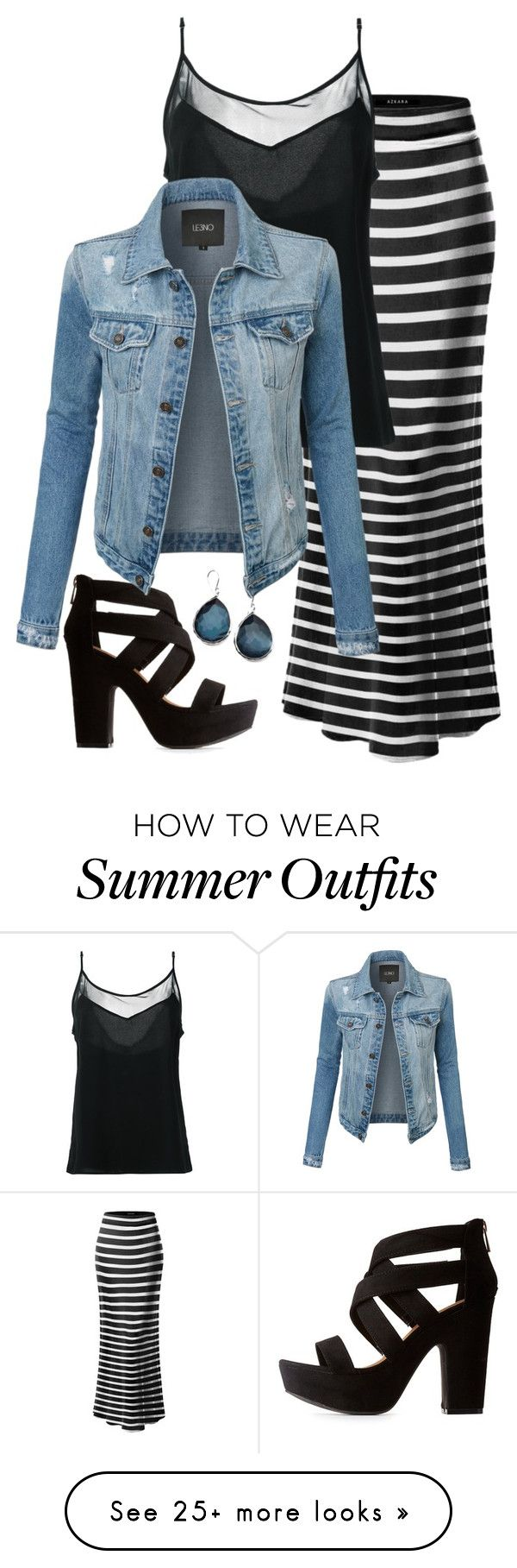 """Thursday"" by debatron on Polyvore featuring Bamboo, Olympiah, LE3NO a..."