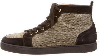 TheRealReal - Christian Louboutin Metallic Orlato High-Top Sneakers