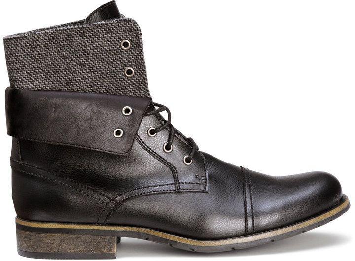 H&M - Double-ankle Boots - Black - Men...