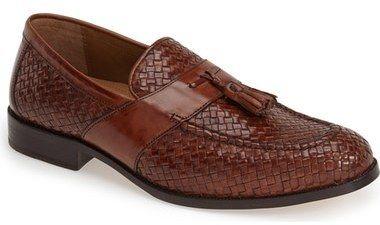 Johnston & Murphy 'Stratton' Leather Tassel Loafer (Men)...