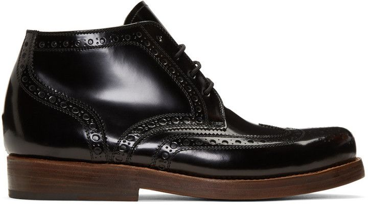 Junya Watanabe Black Heinrich Dinkelacker Edition Lace-Up Boots...