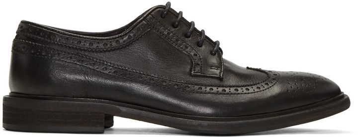 PS by Paul Smith Black Leather Mallow Brogues...