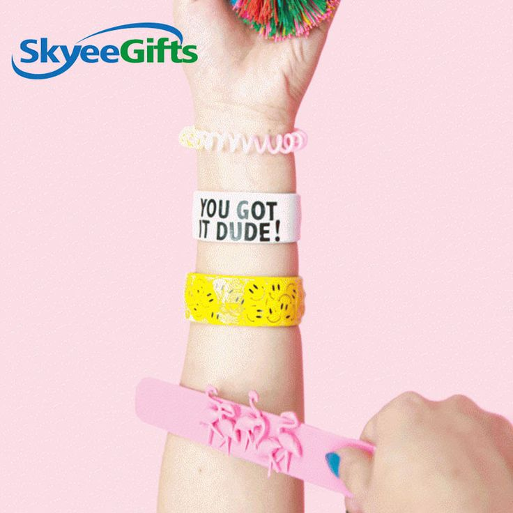 Most charming silicone slap wristband in new style     #siliconewristbandwithrai...