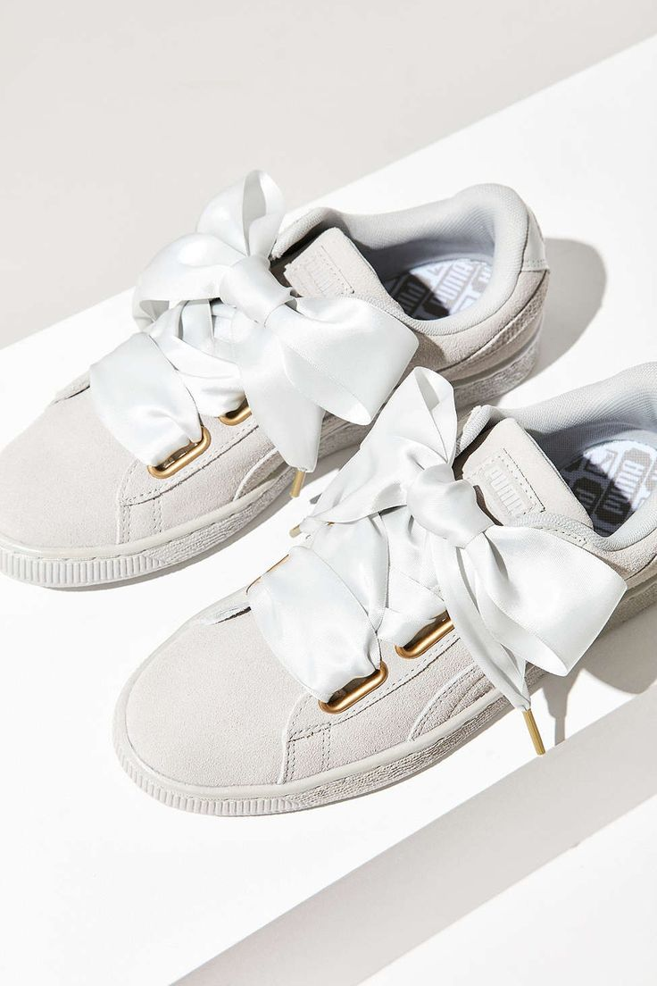 Puma Suede Heart Satin Sneaker - Urban Outfitters...