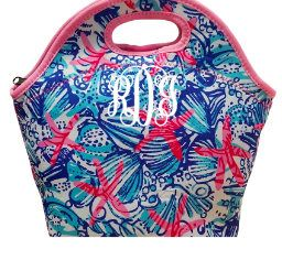 Monogram Designer Inspired Lunch Totes