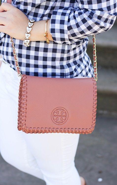 Sweet, Short & Stylish: Gingham + White Jeans