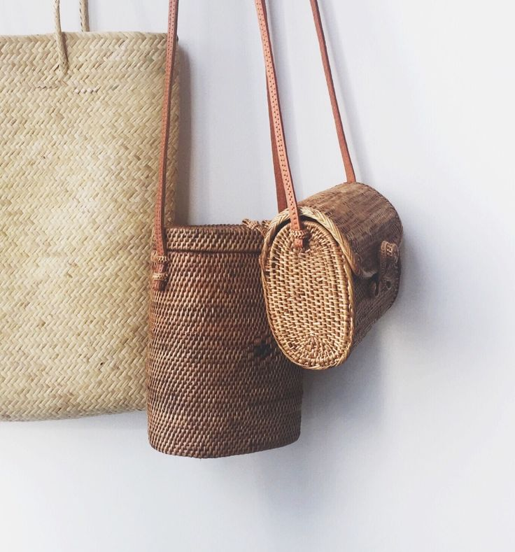 the best woven bags of summer 2017...