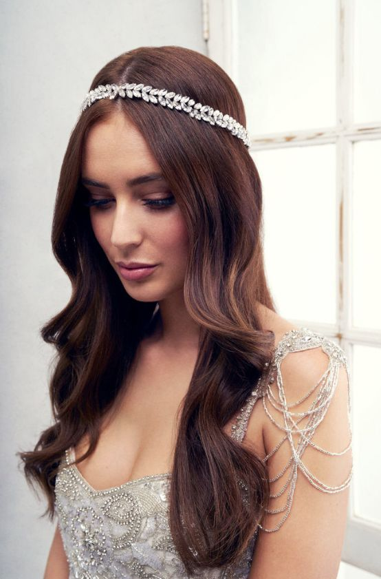 Featured Headpiece: Anna Campbell; www.annacampbell.com.au; Wedding hairstyle...