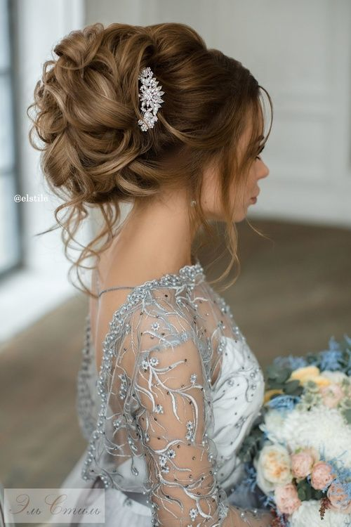 Featured Hairstyle:Elstile;www.elstile.ru; Wedding hairstyle idea...