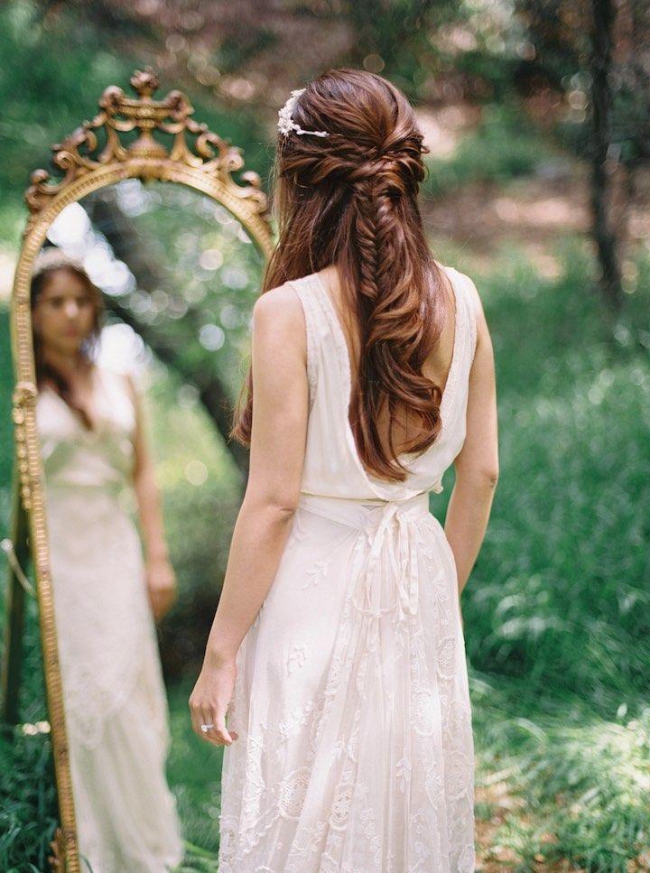 Featured Photographer: Lara Lam; wedding hairstyle idea...